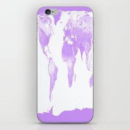 wOrld Map Lavender iPhone Skin