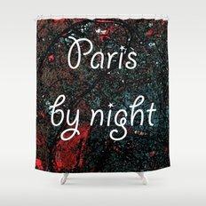 Paris by night colors couette urban fashion culture Jacob's 1968 Paris Agency Shower Curtain