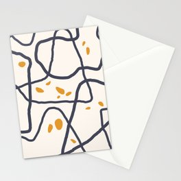 Mountain Contour I Stationery Cards