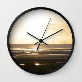 Sunset in Cosby beach Wall Clock
