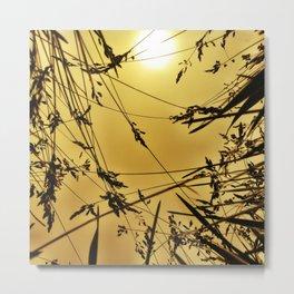 wheat silhoette Metal Print