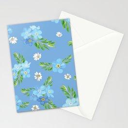 Myosotis pattern Stationery Cards