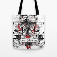 zombie Tote Bags featuring Zombie by DaeSyne Artworks