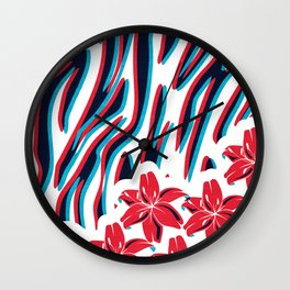 Lillys and Zebras Wall Clock