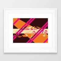 lamborghini Framed Art Prints featuring Lamborghini Abstract by AEComics