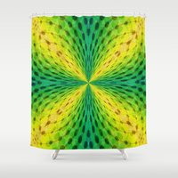 running Shower Curtains featuring Running Dots by Lena Photo Art