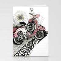 vespa Stationery Cards featuring Vespa by Mariqui Romero