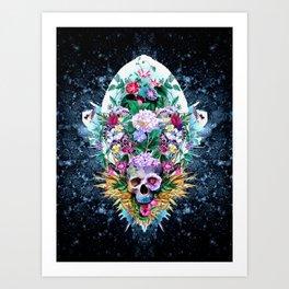 Skull Vivid VI Art Print