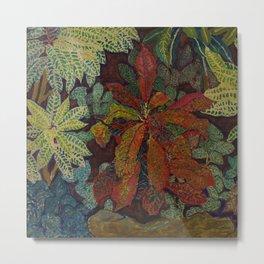 A Rain Forest Garden still life by Hélène Funke Metal Print