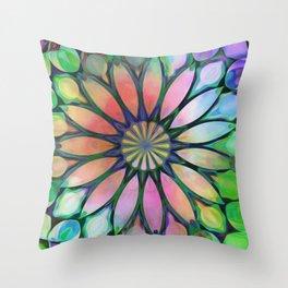 Tropical Flower Dream Throw Pillow