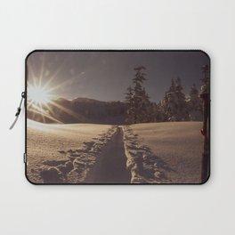 Sunrise Backcountry Ski // Skin Track to Snowy Paradise Laptop Sleeve
