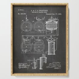 Brewery Patent - Beer Art - Black Chalkboard Serving Tray