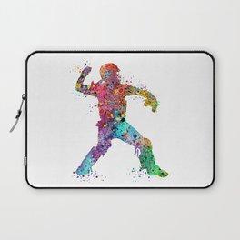 Baseball Softball Catcher 3 Art Sports Poster Laptop Sleeve