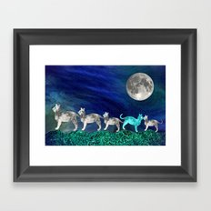 MOON CATS Framed Art Print