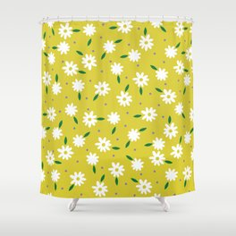 spring, yellow Shower Curtain