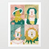 oz Art Prints featuring Oz by StinkyInky_Jess