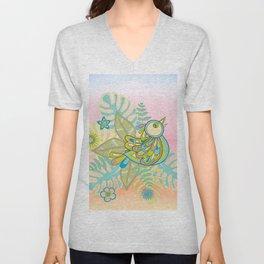 Free tropical bird Unisex V-Neck