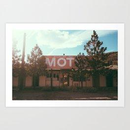 Boundary Peak abandoned motel Art Print