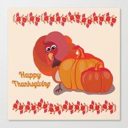Happy Thanksgiving Turkey Canvas Print