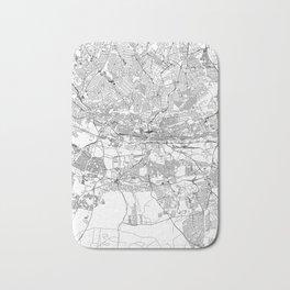 Johannesburg White Map Bath Mat