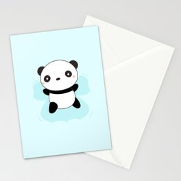 Kawaii Panda Snow Angel Stationery Cards