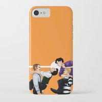 johnlock iPhone & iPod Cases featuring Sherlock vs. Holmes by Krusca