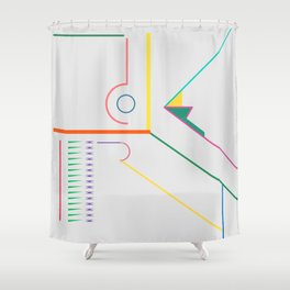 Flying Unknowns Shower Curtain