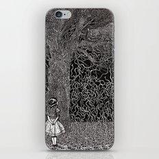 Alice meets Cheshire Cat iPhone & iPod Skin