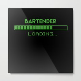 Bartender Loading Metal Print