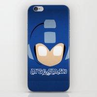 mega man iPhone & iPod Skins featuring Mega Man by Sport_Designs