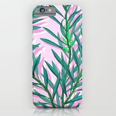 Olive branches in pink and green iPhone 6s Slim Case