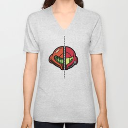 Old & New Samus Aran Unisex V-Neck