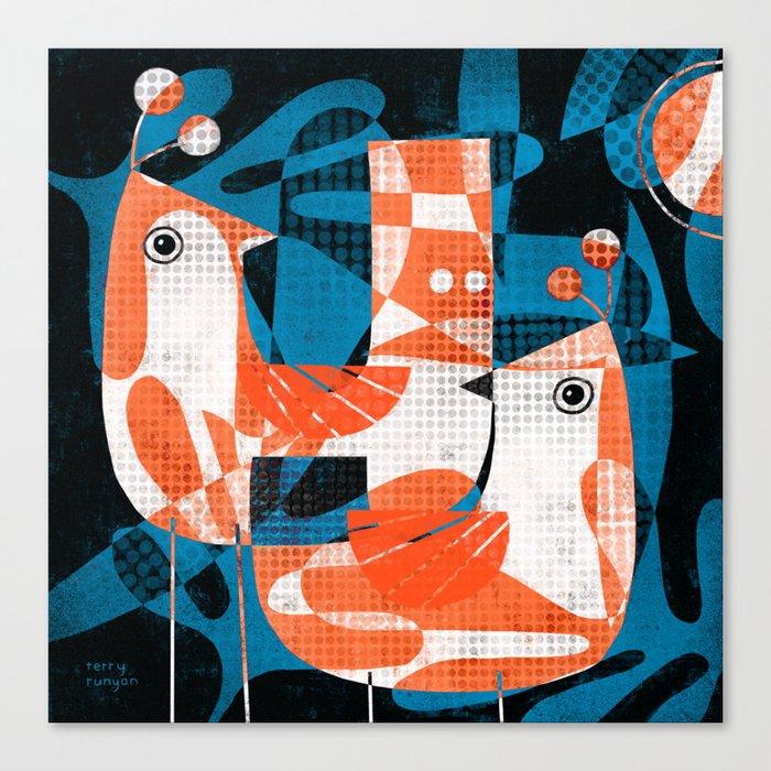 LEAFY BIRDS Canvas Print