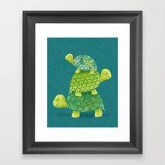 Turtle Stack Framed Art Print