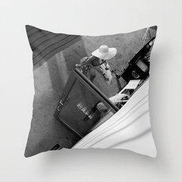 Coffee time - Black and white photography Throw Pillow