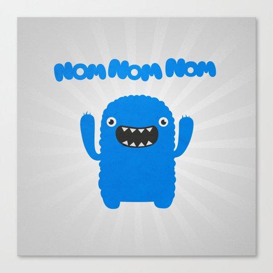Funny & Cute Om nom nom nom - Monster Canvas Print