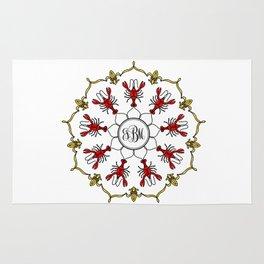 Personalized Crawfish Mandala Rug