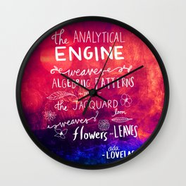 Ada Lovelace - The Way the Numbers Weave Wall Clock