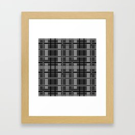 Grey plaid Framed Art Print