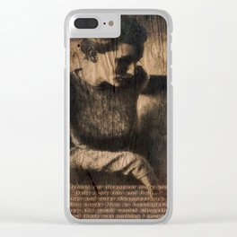 disappear until mourning.. Clear iPhone Case