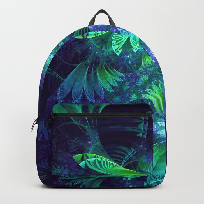 The Clockwork Kite Wings of a Blue-Green Dragonfly Backpack