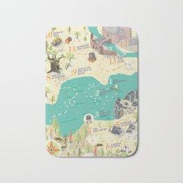 Princess Bride Discovery Map Bath Mat