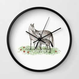 Mare & Foal Wall Clock