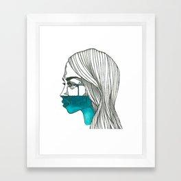 a watery death. #003 Framed Art Print