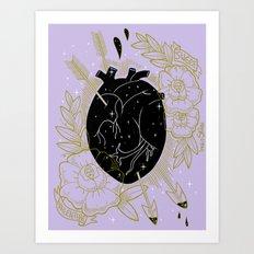 Sweet Valentine _ Lilac Art Print