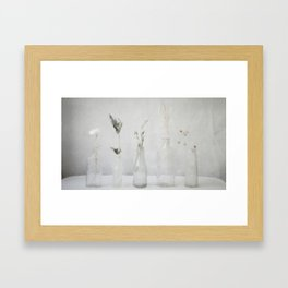 Simply Bottles Framed Art Print