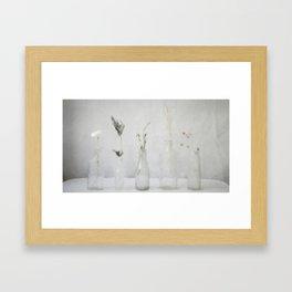 Simply Bottles Framed Art Print