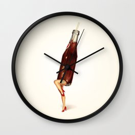 Soda Girl Wall Clock