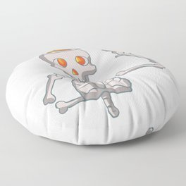 Funny skeleton with bowtie. Floor Pillow