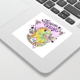 Iguana be a star Sticker